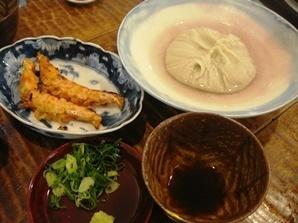 海老の味噌焼きと蕎麦掻き.jpg