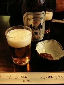 神田「まつや」そばみそとビール.jpg